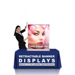TableTop SilverStep Retractable Banner Stand